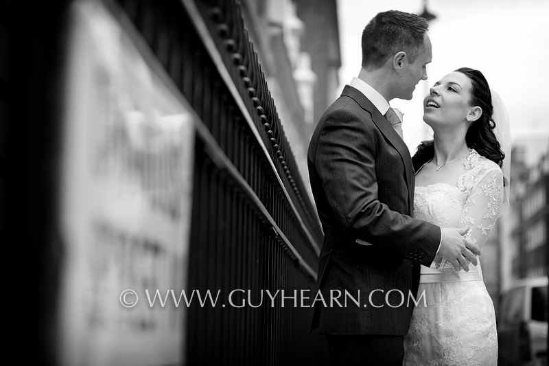 london street wedding photograph
