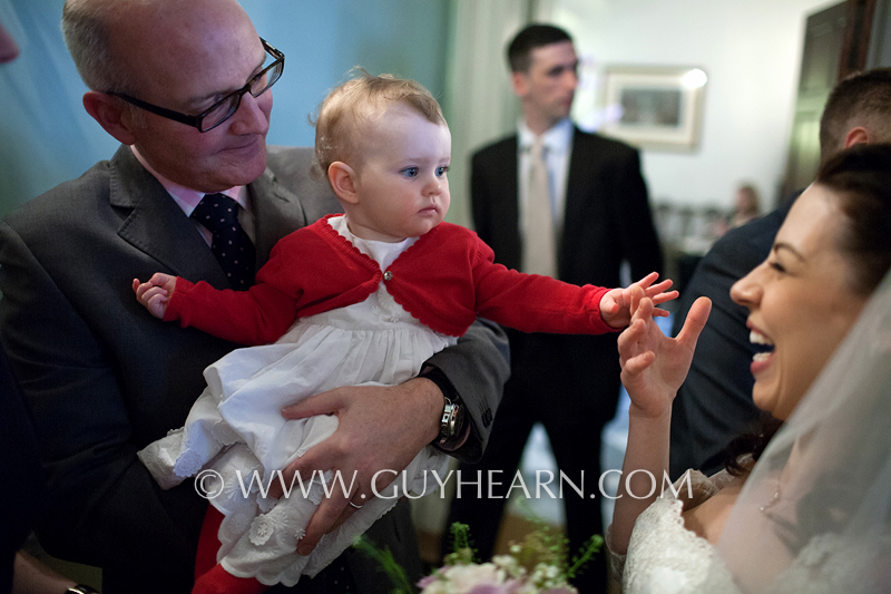 baby at london wedding