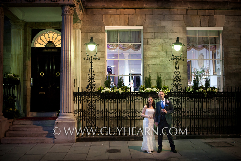 chandos house night time photograph