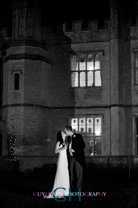 bride and groom hengrave hall